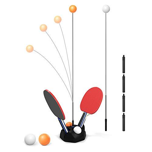 WZTO Tischtennistrainer, Tischtennis Trainer Kinder Tragbares Tischtennis-Set Mit Weichem Schaft Für Selbsttrainin, Dekompression, Kinder Erwachsener Home Entertainment Indoor Outdoor Spielen