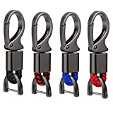 4 PCS Car Key Fob Keychain Leather Metal Keychain Holder Sturdy Keychain Clip Car Key Holder Keychain Hook Sturdy Car Key Ring Key Clip Keychain With D-Ring Screwdrivers for Men and Women