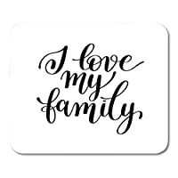 マウスパッドノートブック、デスクトップコンピューター、マウスマット、オフィス用品のあなたの黒いマウスパッドに私の家族の肯定的な引用が大好き