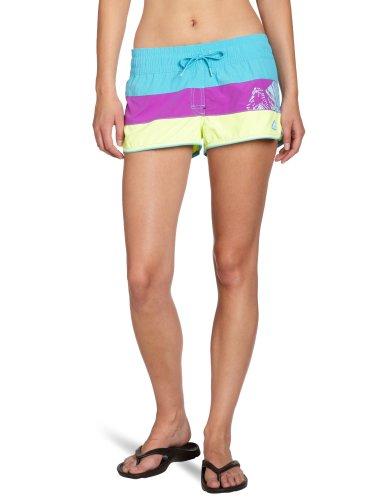 adidas Damen Badehose Gr Shorts X28694, Mehrfarbig (super cyan/ultra purple/ultra glow), 36