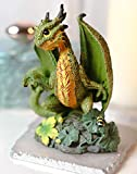 Ebros Colorful Fruits and Vegetables Dragon Figurine by Stanley Morrison Medieval Fairy Garden Dungeons and Dragons Fantasy Decor Accent Sculpture (Green Cantaloupe)