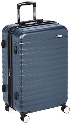 Amazon Basics - Maleta rígida de alta calidad, con ruedas y cerradura TSA incorporada - 68 cm, Azul marino