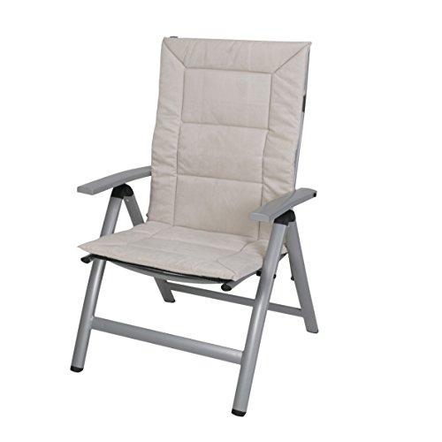 Greemotion 122251 coussin confort – Fauteuil pliant, 120 x 57 x 4 cm, sable