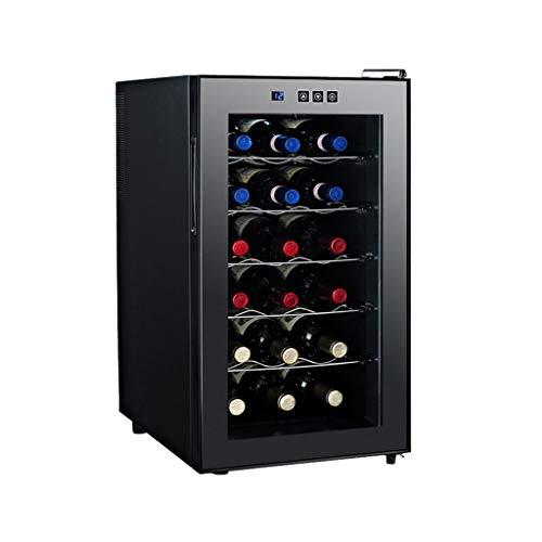 hanzeni Weinkühler, 18 Flaschen Weinkühlschrank, Mit Fashion-Look, Schnellem Und Leisem Kühlsystem, Doppelschichtiger Spiegelglastür