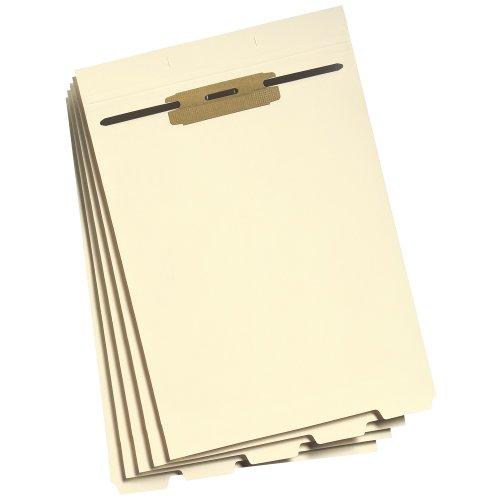 Smead Folder Divider with Fastener, Bottom 1/5-Cut Tab, Letter Size, Manila, 50 per Pack (35600)