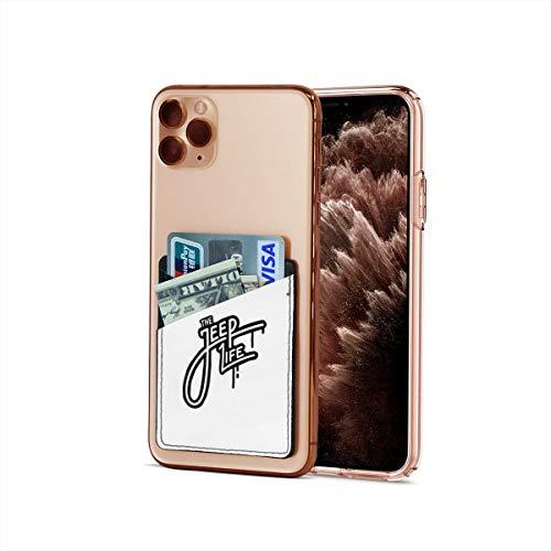 Funda para tarjetas de crédito, ultradelgada para Jeep Font Stick On Wallet Iphone & Android, tarjetero, tarjetero y clip para dinero