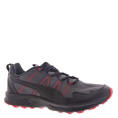 PUMA Escalate Men's Running 11 D(M) US Asphalt-Black-High Risk Red