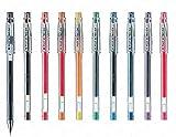 G-Tec-C 4 - Ultra fino 0,4 mm Microtip bolígrafo de Gel - unidades 10 colores surtidos