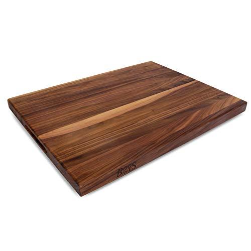 John Boos Block WAL-R02 Walnut Wood Edge Grain Reversible Cutting Board, 24 Inches x 18 Inches x 1.5 Inches
