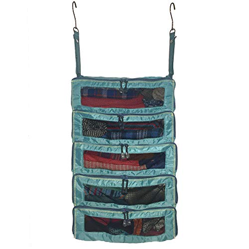 Pack Gear Large Suitcase Organizer - Pack Weeks of Clothing In Your Suitcase With These Hanging Packing Cubes For Travel - Unpack Instantly By Hanging This Teal Luggage Shelf Organizer In The Closet
