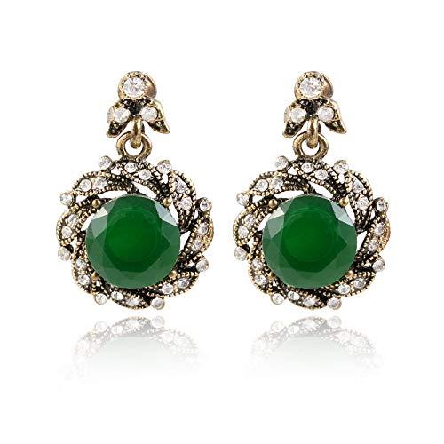 Pendientes de temperamento para orejas pequeñas de manzana, pendientes de gemas de moda, talla única,