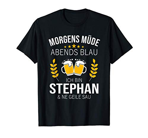 Herren Stephan Vorname Geschenk Geburtstag Lustiges Bier Sprüche T-Shirt