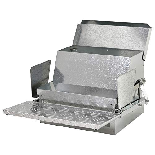PawHut 25 lbs Capacity Automatic Chicken Poultry Feeder with a Galvanized Steel and Aluminium Build, Weatherproof Design