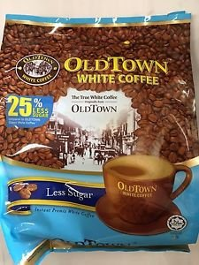 old town instant premix white coffee less sugar 525G 15 STICKS(pack of 2)