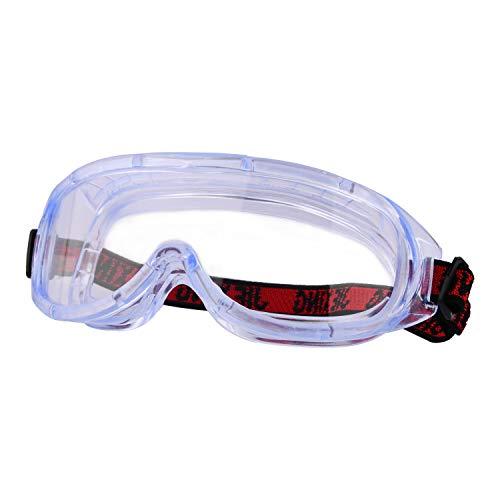 Perfekt Schutzbrille Arbeitsschutzbriller Beschlagfreie Vollsichtbrille auch für Brillenträger ,Kratzfest und bruchfest, für Baustelle, Labor, Werkstatt und Fahrrad-Fahren