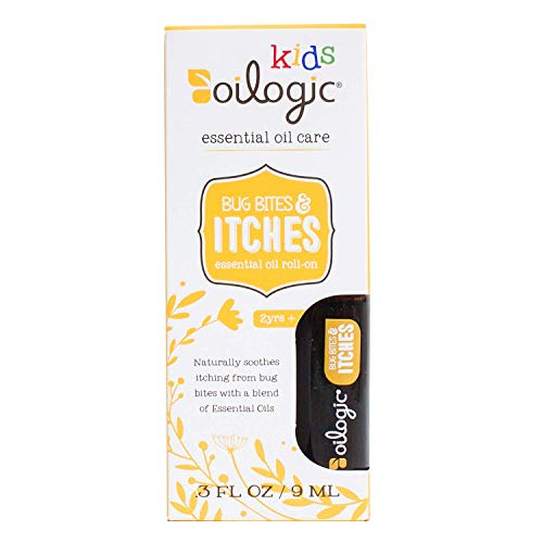 Oilogic Kids Bug Bites and Itches Essential Oil Roll-On - Naturally Soothes Itching From Bug Bites With a Blend of Essential Oils - 9ml (0.3 fl oz)