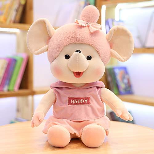 mangege Cartoon Tier Plüschtier Puppe Pullover Maus Puppe Puppen Tierkreis Geschenk 30cm weibliche Pulver Kleidung