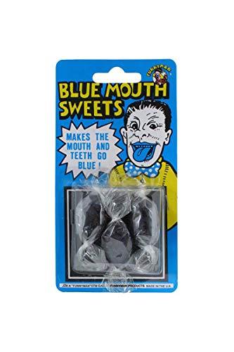 Pams Süßigkeiten für den sehr blauen Zunge und Mund