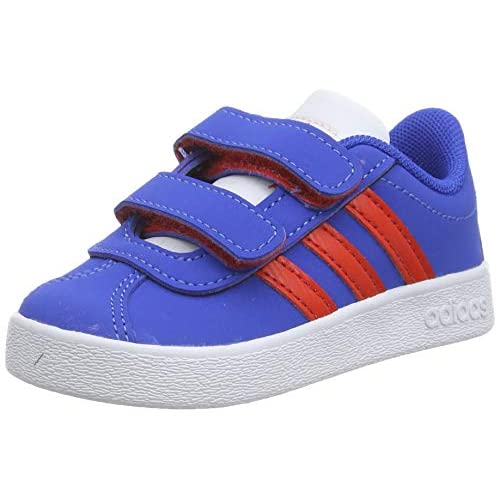 adidas VL Court 2.0 Cmf I, Sneaker Unisex-Bambini, Blu (Blue/Active Red/Ftwr White Blue/Active Red/Ftwr White), 19 EU