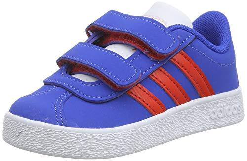 adidas Unisex Baby VL Court 2.0 CMF Sneaker, Blau (Blue/Active Red/Footwear White 0), 20 EU