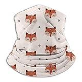 Fox Copo de Nieve Calentador de Cuello Polaina Bandana Pañuelo para la Cabeza Bufanda Sombreros Pasamontañas