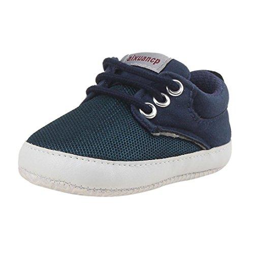 Zapatos de bebé, SHOBDW Zapatos de Unisex Bebé Niña Niño Primeros Pasos Soft-Soled Casual Soft Prewalker Zapatos (12M-18M, Azul)