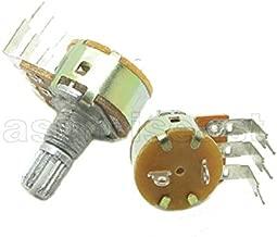FidgetKute 500 x 100K Linear 1/4W Rotary Potentiometer Single Turn B100K with Switch Off ON