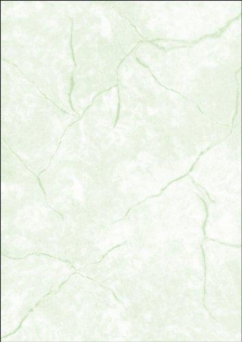 SIGEL DP641 Struktur-Papier Briefpapier Granit grün, A4, 100 Blatt, Motiv beidseitig, 90 g - weitere Farben