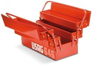 USAG 646/5LV - Cassetta portautensili portattrezzi estensibile lunga a cinque scomparti (vuota) 646301