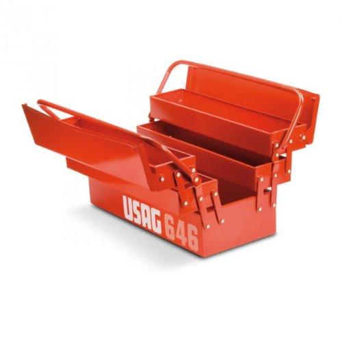 cassetta attrezzi ferro USAG 646/5V - Cassetta portautensili portattrezzi estensibile a cinque scomparti (vuoto) 646201