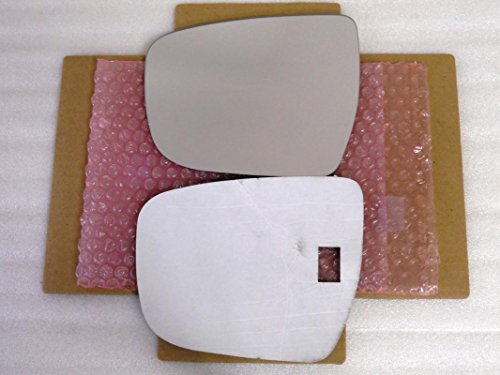 New Replacement Mirror Glass with FULL SIZE ADHESIVE for Nissan Murano Rogue Driver Side View Left LH