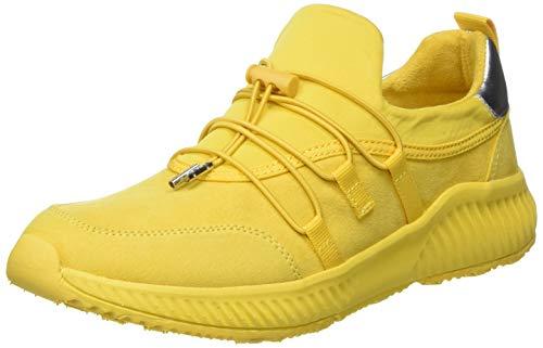 s.Oliver Damen 5-5-23682-34 Sneaker, Gelb (Yellow 600), 38