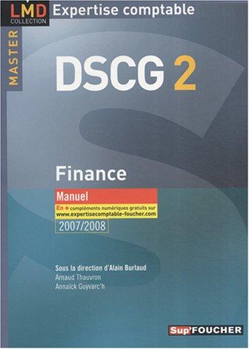 FINANCE MASTER 2 DSCG MANUEL (Ancienne édition)