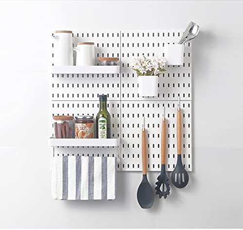 Socalsunny Pegboard Kit Wall Organizer 4 Boards 14 Piece Accessories Combination Hanging Peg Board Wall for Home Office | 22