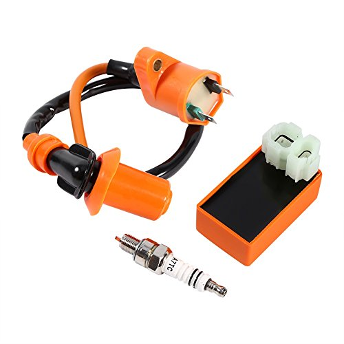 Racing Performance 6 Pin CDI Box + Ignition Coil + Spark Plug for GY6 50CC 125CC 150CC ATV Scooter