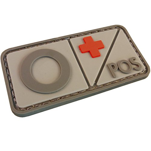 2AFTER1 Blood Type PVC Rubber 3D Hook&Loop Patch Morale Airsoft Combat Tactical Military