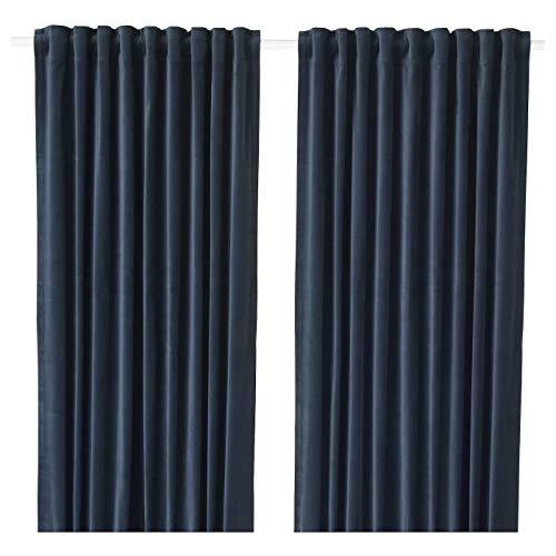 My- Stylo Collection Raum-Verdunklungsgardinen 1 Paar dunkelblau Produktgröße: Länge: 250 cm Breite: 140 cm Gewicht: 2,13 kg Fläche: 3,50 m2 Verpackungsmenge: 2 Stück