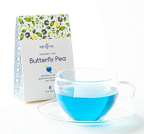 【色が変わるお茶】molfon バタフライピー 8包 ティーバッグ  無農薬 バタフライピーティーパック 青いお茶…