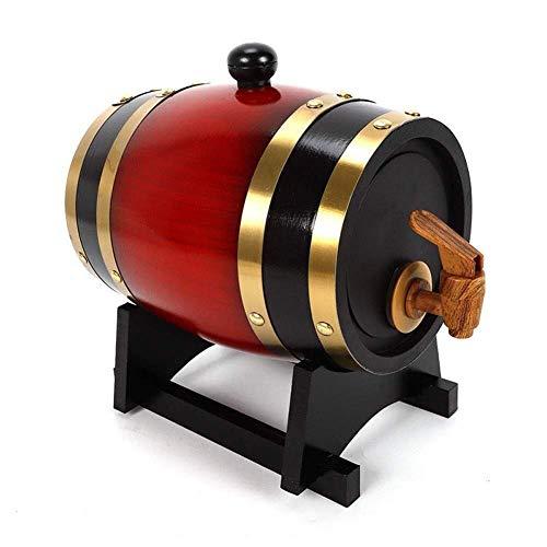 Decantador de vino, Decantador de whisky Crystal Oak Barrel Barrel 3/5 / 10L Dispensador de barril de vino, barril de vino de barril de roble con grifo, barril de madera para almacenamiento o envejeci