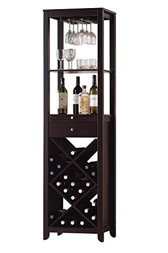 ACME Furniture AC-12244 Wine Cabinet, 18.74'L x 14.8'W x 68.7'H, Wenge