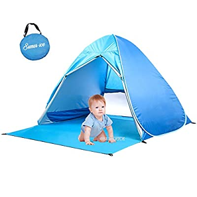 Sumerice Beach Tent Automatic Pop Up Baby Sun Shelter Portable Cabana Sun Tent