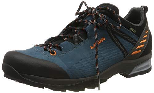 Lowa Herren ARCO/LEDRO GTX LO Trekking- & Wanderstiefel, Blau (Petrol/orange 7420), 44.5 EU