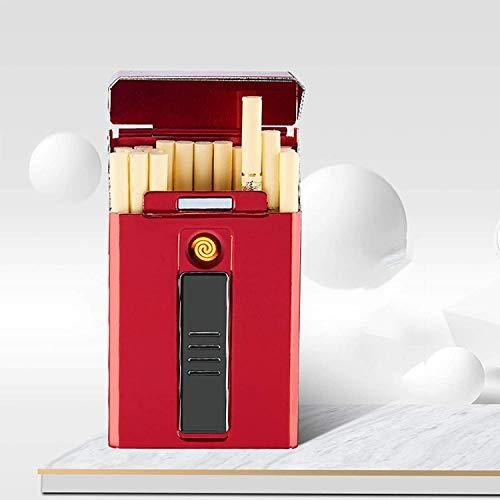 XIAOXIA Caja De Cigarrillo A Prueba De Viento Sin Viento Recargable Caja...