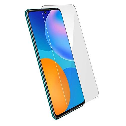 MB ACCESORIOS Protector de Pantalla, Cristal Templado con Pegamento Completo para Huawei P Smart 2021