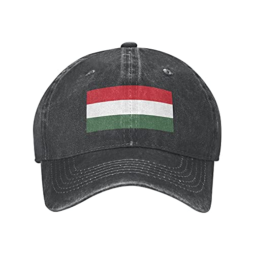 N  A Ungarn Flagge Baseball Cap Einstellbare Dad Hat Denim Cap für Damen und Herren