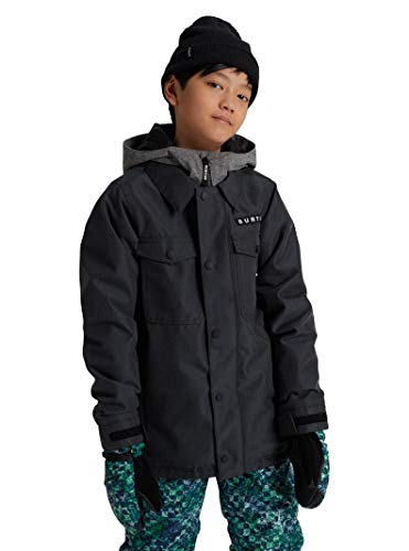 Burton Kids Little Uproar Jacket, Black Denim New, L (14-16 Big