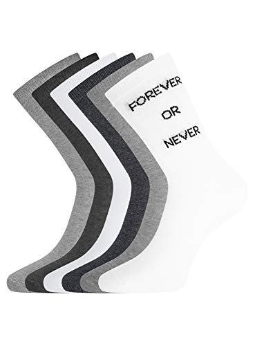 oodji Ultra Damen Lange Socken (6er-Pack), Mehrfarbig, DE 35-37 / S