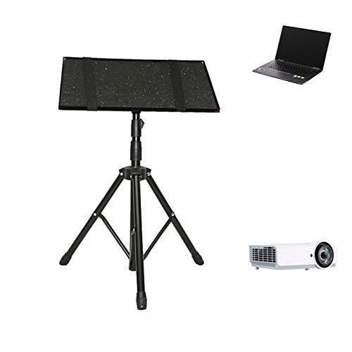 GJQGYY Laptop Tripod, Universal Device Stand, Detachable Computer DJ Equipment Holder Mount - Black