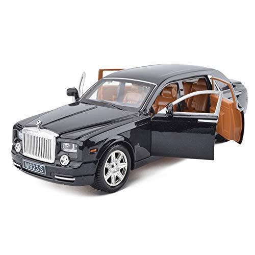 CHGDFQ Modelo de Coche 1:24 Rolls-Royce Phantom simulación de aleación de fundición de Juguetes Adornos de colección de Coches Deportivos joyería 20.5x7x5.5cm