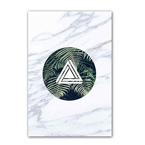 SDFSD Nordic Poster Marmorpflanze Leinwand Malerei Drucke Abstrakte Wandkunst Wandbilder Für Wohnzimmer Schlafzimmer Wohnkultur 40 * 60cm